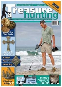 Author John Lynn conducts the first part of his XP DEUS field test for Treasure Hunting Magazine.