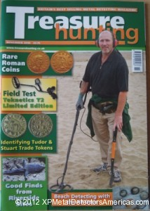 Author John Lynn conducts the second part of his XP DEUS field test for Treasure Hunting Magazine.