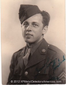 US Army Soldier Stephen Petruno was stationed in the coastal region of England in 1944.