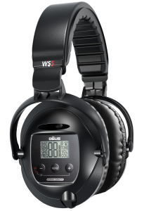 The WS5 wireless headphones are designed for use with the XP DEUS metal detector. This full sized, weatherproof headset provides crystal clear audio. Built in jumbo LCD display and touch pad allows for precise control of the metal detector functions.