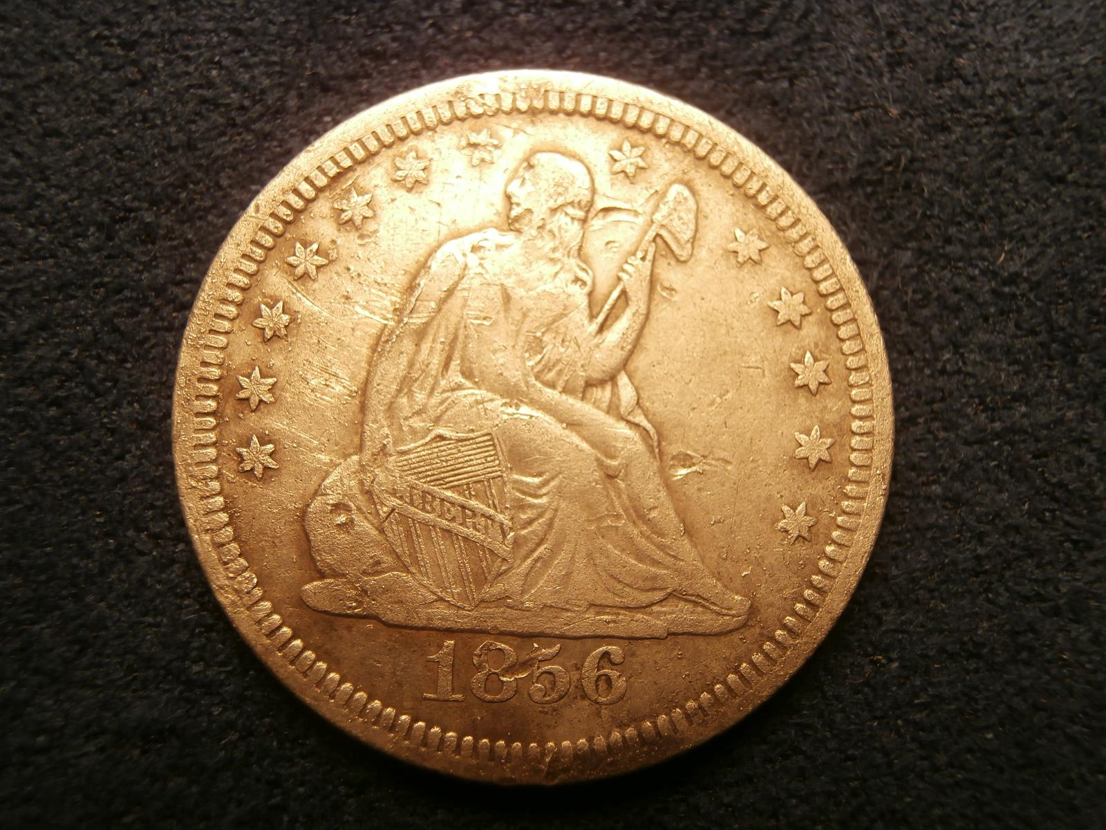 Field Tests Blog Fun Metal Detector To Findcoins At The Beach Obverse View Of An 1856 Liberty Seated Quarter This Was Unexpected