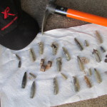 This is a photo of the ammo found by Twinks friend Don Morin at Franconia while hunting with the XP DEUS metal detector.